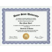 Daisy Daisies Degree: Custom Gag Diploma Doctorate Certificate (Funny Customized Joke Gift - Novelty Item)
