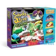 Sands Alive Világító homokgyurma járgányok készlet (2723)