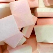Haribo Pink and White Iced Squares Sweets