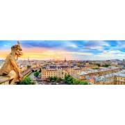 Puzzle familie Trefl panorama 1000 piese - Imagine de pe catedral Notre Dame Paris