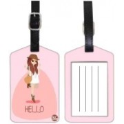 Nutcaseshop COOL GIRL Luggage Tag(Multicolor)