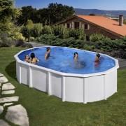 Pontaqua Gre FREE WHITE ovális fehér medence szkimmerrel, befúvóval 730x375x132cm FFA 873
