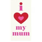 Magnetische boekenlegger: I - hart - my mum