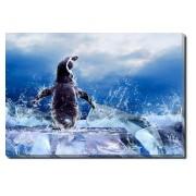 Tablou Canvas Pinguin pe Gheata