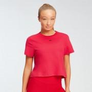 Myprotein MP dámské zkrácené tričko s krátkým rukávem Essentials – Červené - XS