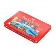Creioane colorate eco 48 culori/set FABER-CASTELL, cutie metal, FC115888