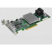 Supermicro HBA Card 8 int. ports, 12Gb/s, RAID 0,1,10, no cache, max 63HDD, LP, AOC-S3008L-L8I