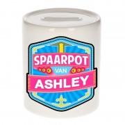 Bellatio Decorations Vrolijke kinder spaarpot voor Ashley