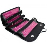 ShoppoWorld Makeup Bag | Cosmetic Pouch. Bag | Roll N Go For Women, Girls Travel Toiletry Kit(Black)