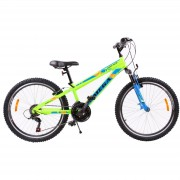 Bicicleta mountainbike copii Omega Gerald 24 18 viteze verde 2019