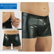 Svenjoyment Wet Look C Ring Boxer Brief Underwear Black 2130505