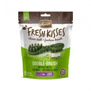 Merrick Fresh Kisses Double-Brush Coconut Oil & Botanicals Large Grain-Free Dental Dog Treats, 4 count