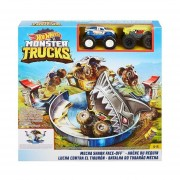 Autopista Hot Wheels monster trucks Lucha contra el tiburon Bestoys