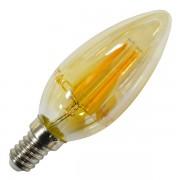 LAMPADINA LED E14 4W FILAMENTO AMBRA A CANDELA VT-1982-LED4462