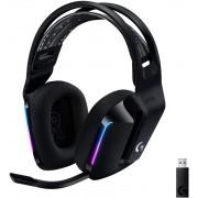HEADPHONES, LOGITECH G733 LIGHTSPEED, Gaming, Microphone, Wireless, RGB, Black (981-000864)