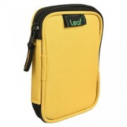 Leaf Hard Disk Pouch Yellow