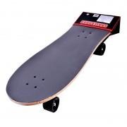 Skateboard lemn, 75 cm, Rosu/Negru