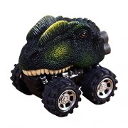 Pull Back Dinosaur Cars, Vehicle Playsets Animal Mini Car Toys Model with Big Tire Wheel for 3-14 Year Old Kids Toddlers Boys Girls Creative Birthday Christmas Gifts
