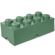 40041747 Cutie depozitare LEGO 2x4 verde masliniu