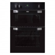 Belling BI90FP Black Double Built In Electric Oven