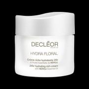 Decleor hydra floral 24 hr hydrating rich cream 50 ml