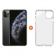 Apple iPhone 11 Pro Max 64 GB Space Gray + Tech21 Pure Back Cover Transparant