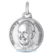 medaglia religiosa in argento papa francesco 18 mm