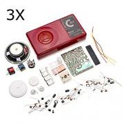 HITSAN 3Pcs Seven AM Radio Electronic DIY Kit Electronic Learning Set One Piece