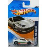 Hot Wheels 2012 All Stars Ferrari 458 Italia White Card 130