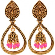 RADHEKRISHNA Wedding Traditional Jhumka earrings for girls women gold plated Fancy Party wear Earings Pearl Alloy Jhumki Earring