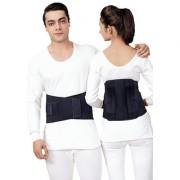 Kudize Lumbar Sacral (L.S.) Belt Contoured Spinal Brace Mild Lower Back Support Black - XXL (110 to 120 cm)