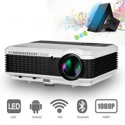 Bluetooth Projector for Android 1080P HD 3600 Lumens Wireless LCD Pro