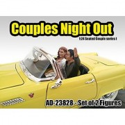American Diorama 23828 Seated Couple 2 Piece Figure Set Release 1 for 1-24 Models