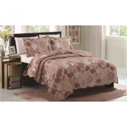 Glory Home Design Juliet - 3 Piece Reversible Quilt Set Queen Other Burgundy Haze Red Burgundy Haze