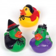 Baker Ross Halloween Rubber Ducks - 4 Rubber Ducks in 4 Assorted Halloween Designs (Frankenstein, Dracula, Ghost & Witch). Size: 5cmArt & Crafts