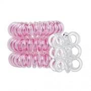Invisibobble Bee Mine Duo Kit für Frauen - Haargummi Original 3 ks Rose Muse + Haargummi Nano 3 ks Crystal Clear Haargummi