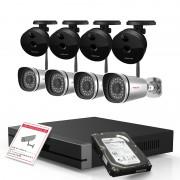 Kit videosorveglianza Foscam Hd 720p con NVR 9CH e 4 cam da esterno e 4 cam da interno