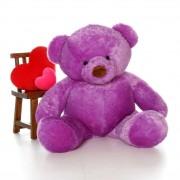 5 Feet Fat and Huge Purple Teddy Bear