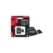Cartao De Memoria Classe 10 Kingston Sdcg2/128gb Micro Sdxc 128gb 90r/45w Uhs-i U3 V30 Canvas Go