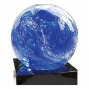 Glasreliek Stroming in Blauw