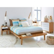 Platform bed in massief dennenhout + beddenbodem, Jimi