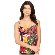 Tommy Bahama Remy Over Shoulder Cup Tankini Multicolor