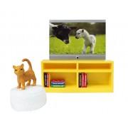 Lundby Smaland Dollhouse TV + Furniture Set