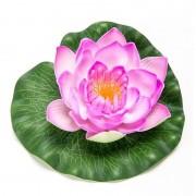 Geen Lila paarse lotus/waterlelie kunstbloem 16 cm