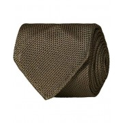 Drake's Silk Grenadine Handrolled 8 cm Tie Khaki