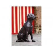 Statuie de bronz moderna Sitting Labrador