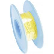 Cablu pentru conexiuni infasurate Wire-Wrap, 1 x 0.01 mm², galben, 15 m, AWG 36