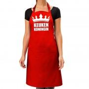 Bellatio Decorations Keuken koningin keukenschort rood voor dames - Feestschorten