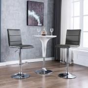 vidaXL Бар столове, 2 бр, сиви, изкуствена кожа