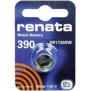 Baterie buton oxid de argint 390, 1,55 V, 80 mAh, Renata